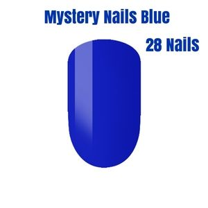 Mystery Press On Nails Box 28 BLUE NAILS